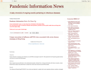 pandemicinformationnews.blogspot.com screenshot