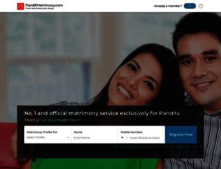 panditmatrimony.com screenshot