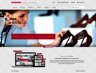 pandora-demo.myshopify.com screenshot