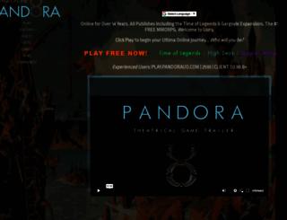 pandorauo.com screenshot
