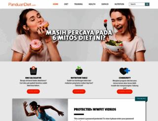 panduandiet.com screenshot