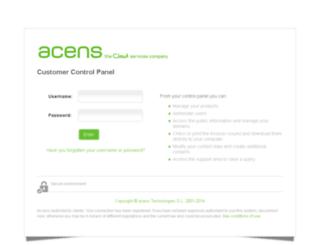 panel.acens.net screenshot