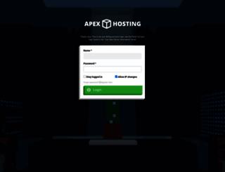 panel.apexminecrafthosting.com screenshot