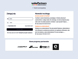 panel.webepartners.pl screenshot