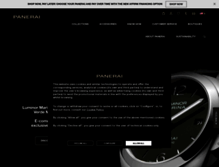panerai.com screenshot