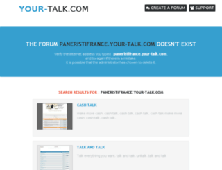 paneristifrance.your-talk.com screenshot