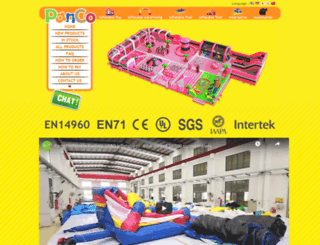 pangoinflatable.com screenshot