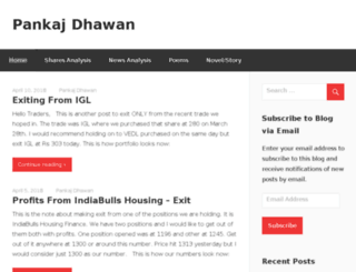 pankajdhawan.com screenshot