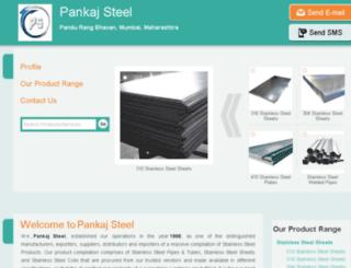 pankajsteel.net screenshot