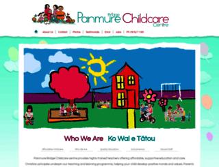panmurebridgechildcare.co.nz screenshot