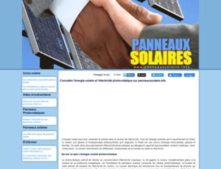 panneauxsolaire.info screenshot
