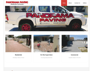 panoramapaving.co.za screenshot