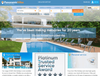 panoramicvillas.com screenshot