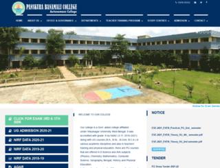 panskurabanamalicollege.org screenshot