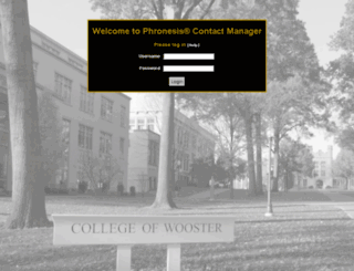 pansophy.wooster.edu screenshot