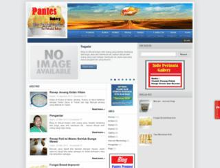pantesbakery.blogspot.com screenshot