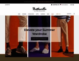 pantherella.com screenshot