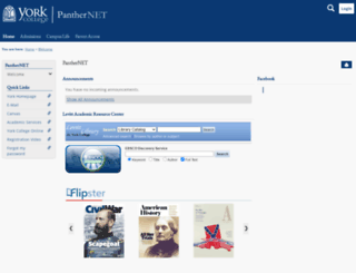panthernet.york.edu screenshot