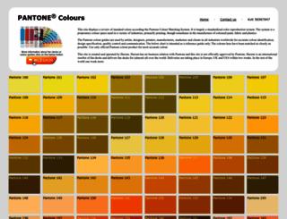 pantone-colours.com screenshot
