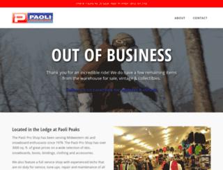 paoliproshop.com screenshot
