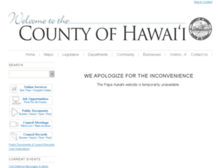 papaaukahi.hawaiicounty.gov screenshot