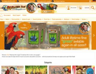 papageienpark-shop.de screenshot