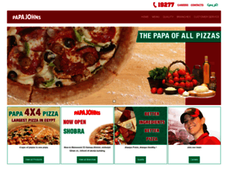 papajohnsegypt.com screenshot