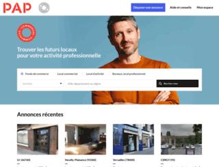 papcommerces.fr screenshot
