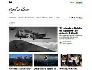 papelenblanco.com screenshot