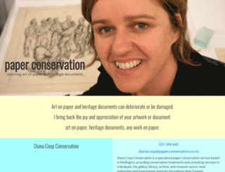paperconservation.co.nz screenshot