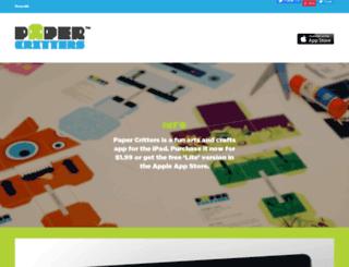 papercritters.com screenshot