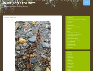 paperdollsforboys.wordpress.com screenshot