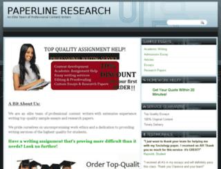 paperlineresearch.com screenshot