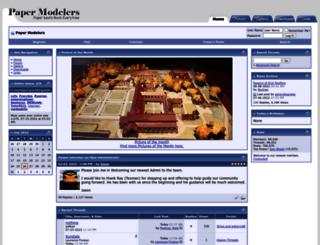 papermodelers.com screenshot