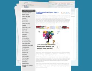 paperprintout.com screenshot