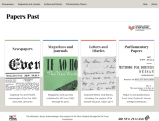 paperspast.natlib.govt.nz screenshot