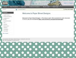 paperstreetdesigns.com screenshot