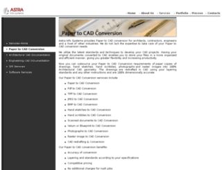 papertocad.astrainfosystems.com screenshot