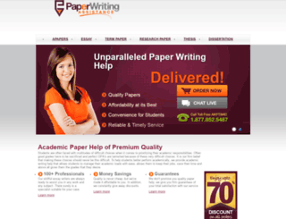 paperwritingassistance.com screenshot