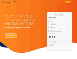 paperwritingexperts.com screenshot