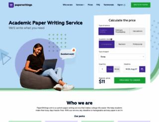 paperwritings.com screenshot