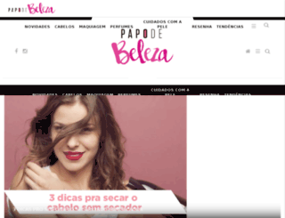 papodebeleza.com.br screenshot