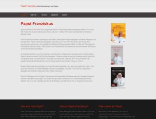 papst-franziskus.biz screenshot