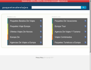 paquetesdeviajes.mx screenshot