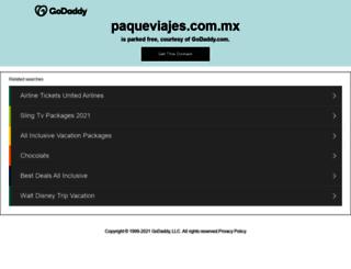 paqueviajes.com.mx screenshot