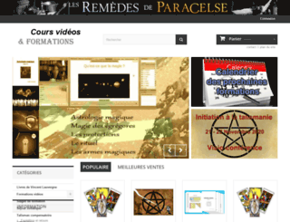 paracelse-remedies.fr screenshot