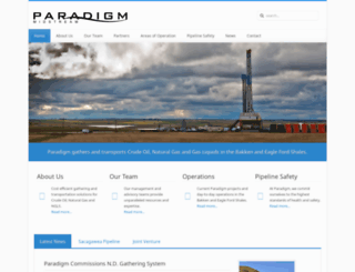 paradigmmidstream.com screenshot
