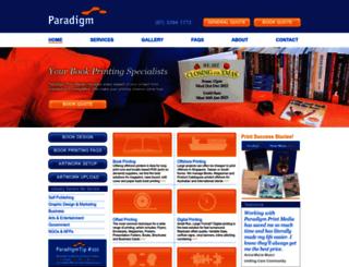 paradigmprintmedia.com.au screenshot