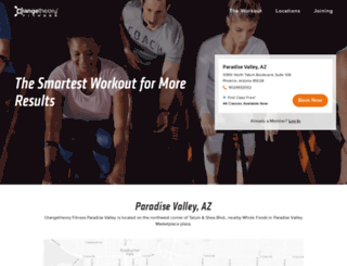paradise-valley.orangetheoryfitness.com screenshot