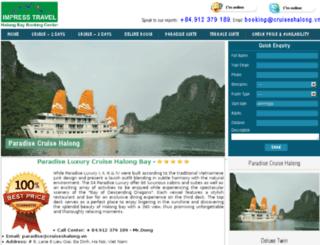 paradise.cruiseshalong.vn screenshot